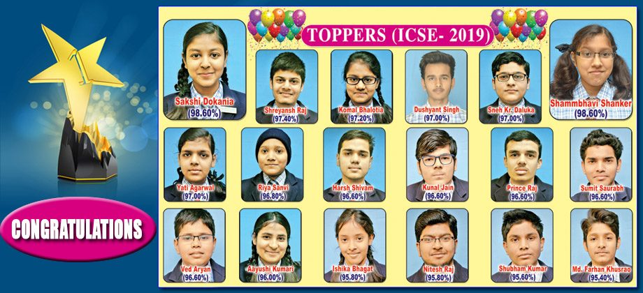 ICSE TOPPERS  2-19